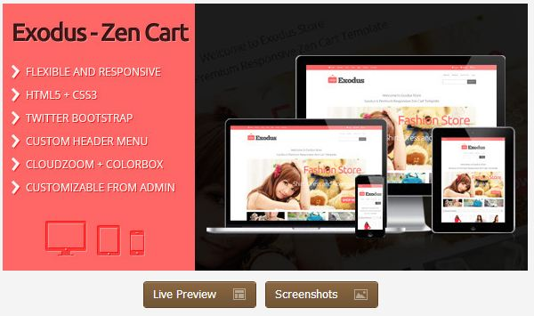 Wp ecommerce themes top wordpress ecommerce themes for Free responsive zen cart templates